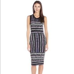 Rachel Roy Jacquard stripe dress